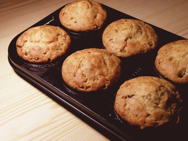 Muffins de Mantequilla de maní y batata