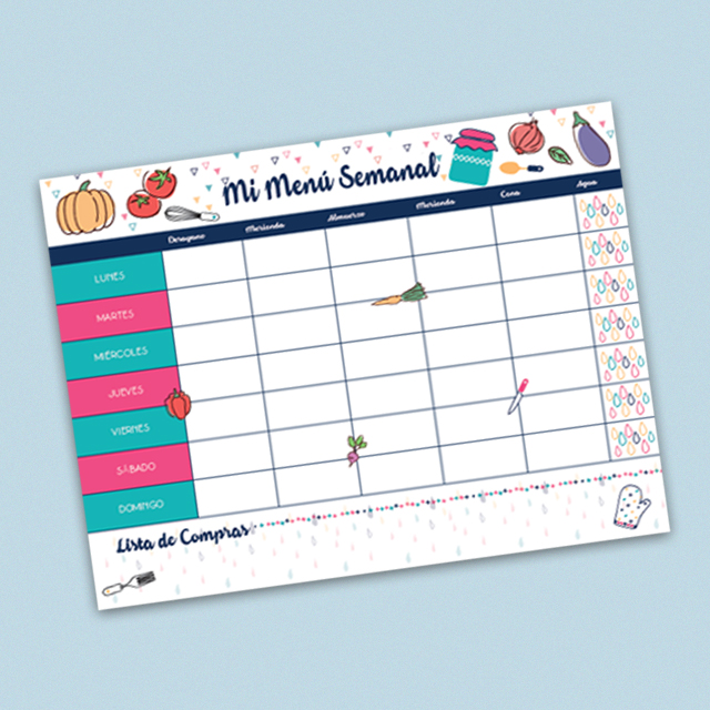 arte 2 publicar menu semanal - Planificador Comidas Semanal Pin Up